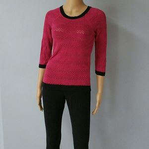 Copper Key 100% cotton pink sweater. Small